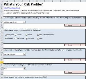 risk profile questionnaire invest excel With investor questionnaire template