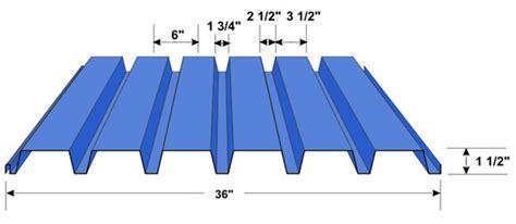 corrugated steel decking weight b deck roof deck floor deck 1 1 2 quot b deck in stock