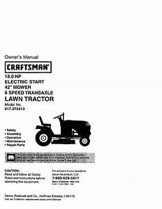 Craftsman Lawn Mower 272 User Guide