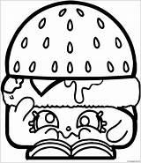 Coloring Pages Shopkins Hamburger Burger Categories Popular sketch template