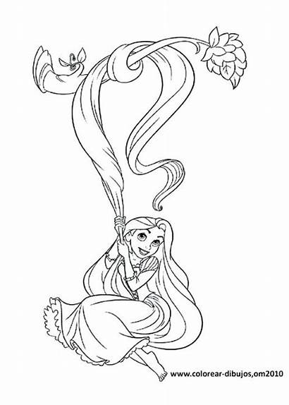 Coloring Pages Pascal Tangled Rapunzel Disney Drawing