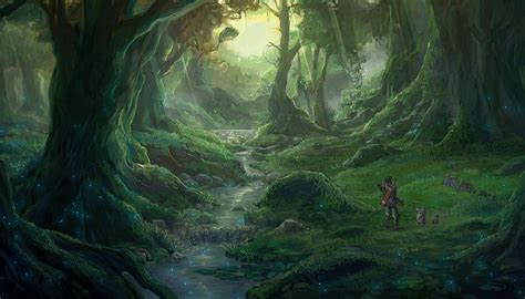 Forest Anime Wallpaper - anime forest backgrounds wallpaper cave