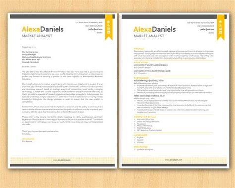 Cca Letter Template by Yellow Ribbon Banner Modern Microsoft Word Resume 1 By