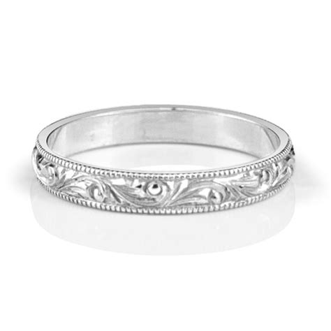 engraved vintage floral band made you look jewellery