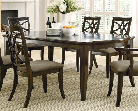 meredith espresso rectangular extendable dining table