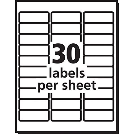 avery easy peel white mailing labels  laser printers