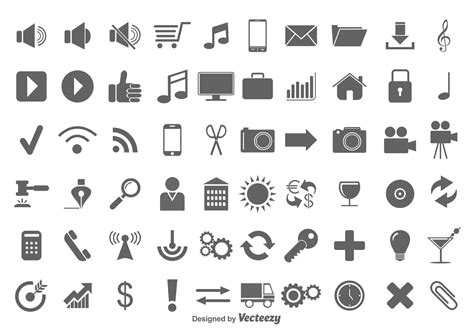 vector icon set download free vector art stock graphics