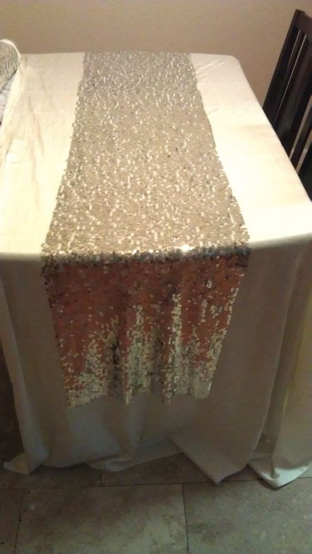 how long should a table runner be sequin table runner drop on each side pics inside