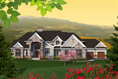 sprawling european house plan ah architectural