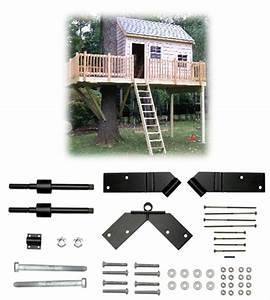 One Tree 2 Post 12 U0026 39 X14 U0026 39  Treehouse Kit
