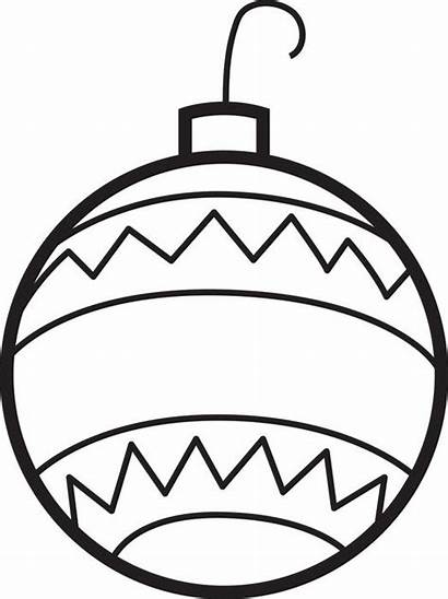 Coloring Christmas Ornaments Pages Ornament Getcoloringpages