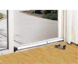 sliding glass door locking security bar brace dual purpose