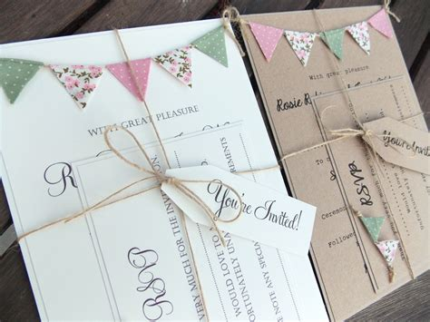 cheap wedding invitation kits rustic wedding invitation unique bunting invitation country