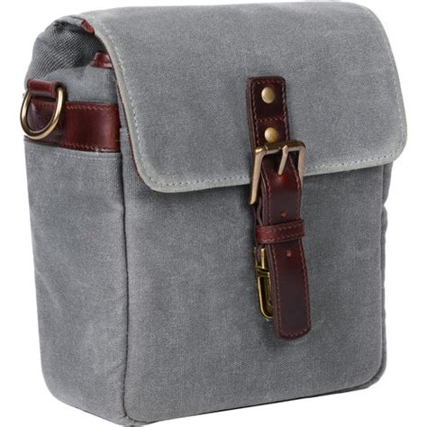 ona bond street waxed canvas camera bag smoke ona gr