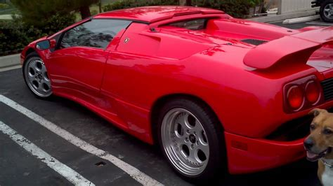 1997 1/2 lamborghini diablo roadster finished in a stunning blu scuro with just 36,222 km. A Ferrari Diablo. - YouTube