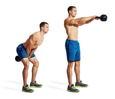 kettlebell swing swings workout exercises leg fat fitness mass loss kb cardio workouts kettle bell dumbbell burning idiot proof weight