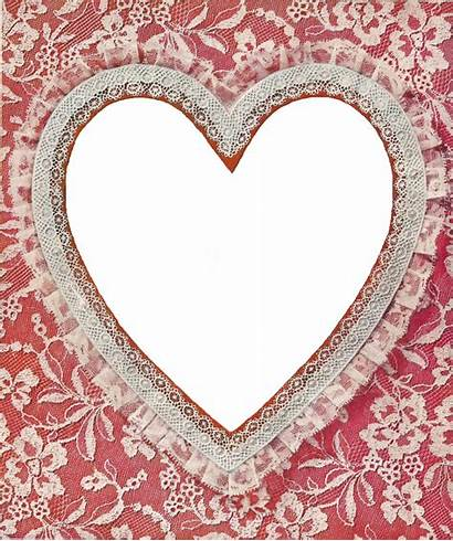 Clip Lace Heart Frame Clipart Designs Victorian