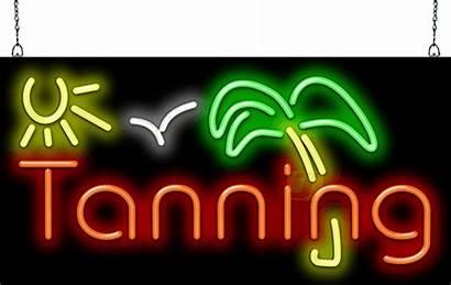 Taz Neon Tanning Sign