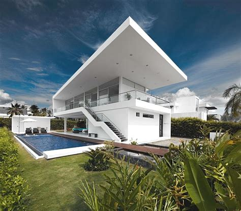 Country House In Colombia by Two Storey Contemporary Home In Colombia