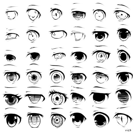 Anime Eyes Looking Left Eyes 2 5 By Evenica On Deviantart