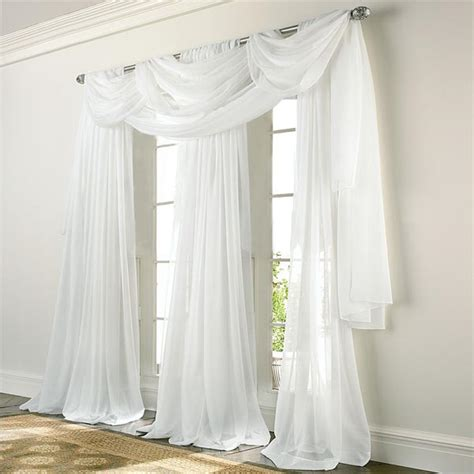 elegance voile white sheer panels altmeyers bedbathhome