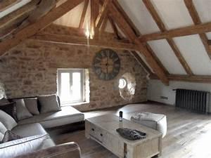 Decoration Mur Interieur Salon : idee deco salon avec mur pierre fashion designs ~ Dailycaller-alerts.com Idées de Décoration