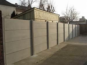 Linteau Beton Brico Depot : mur en plaques de b ton cl tures bataille ~ Dailycaller-alerts.com Idées de Décoration