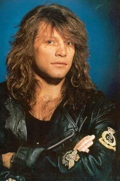 Jon Bon Jovi Long Hair Leather Jacket Late