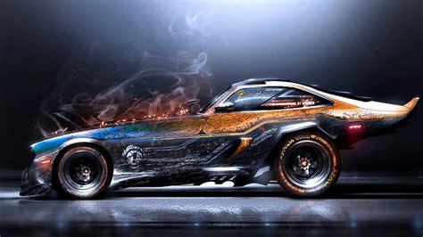 Cool Car Wallpapers Hd Drawings by Artwork Digital Car Smoke Car Wallpapers Hd