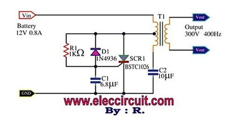 mini power inverter using scr 300v 400hz inverter circuit and products