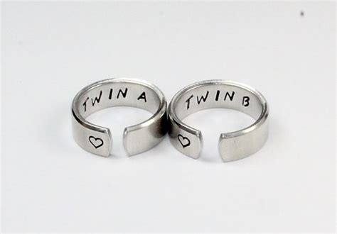 Twin A Twin B Sister Ring Set Twin Sisters Matching Pair. Naira Rings. Understated Wedding Rings. Night Rings. Oval Cut Rings. Vintage Onyx Engagement Wedding Rings. Current Engagement Rings. Sterling Wedding Rings. Old Rings