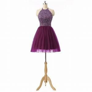Fashion halter 8th grade graduation dresses beads short for Formal short dresses for weddings