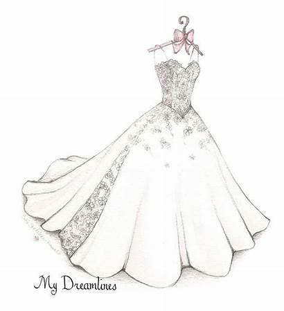 Drawing Sketches Draw Dresses Drawings Sketch Bow