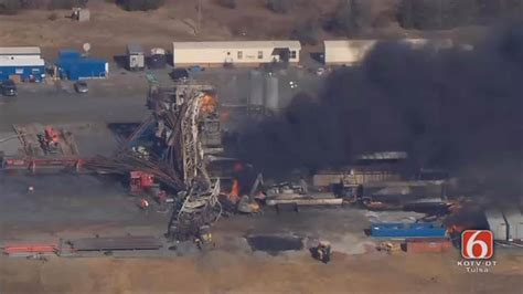 missing  pittsburg county drilling rig explosion