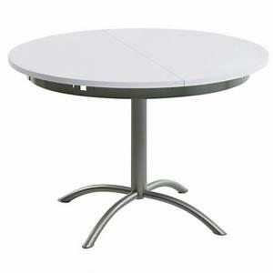 Table Ronde Cuisine : table cuisine ronde pied central table a manger noir et blanc newbalancesoldes ~ Teatrodelosmanantiales.com Idées de Décoration