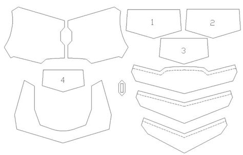 free armor templates 89 best foam images on diy and ideas