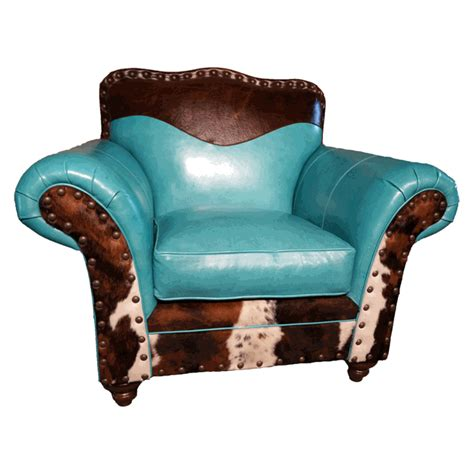 cowhide leather chair turquoise leather cowhide club chair