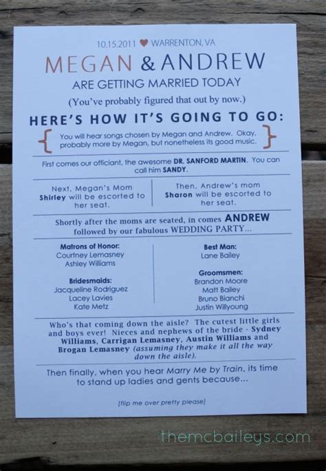 wedding program sle wording ideas 25 best ideas about wedding programs on ceremony programs wedding programs and