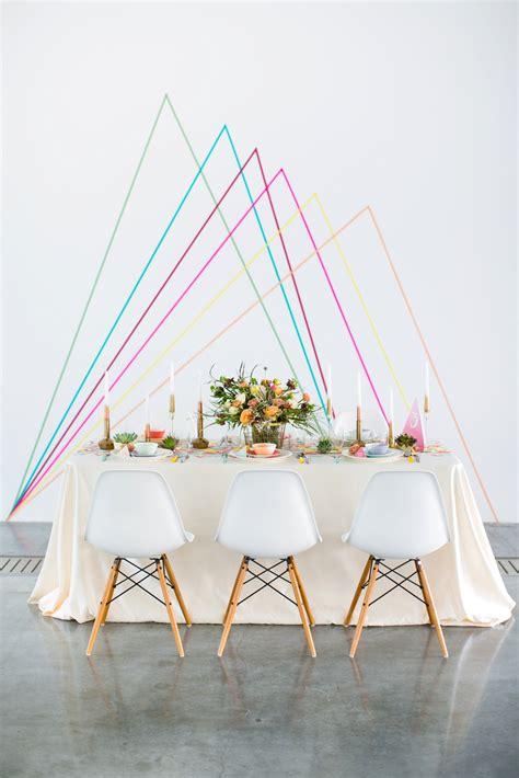 Cheap Diy Backdrop by Geometric Wedding Backdrop Diy