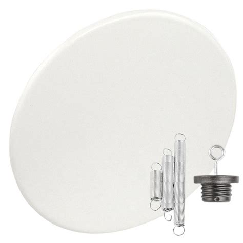 garvin round 8 in white recessed can light with blank up
