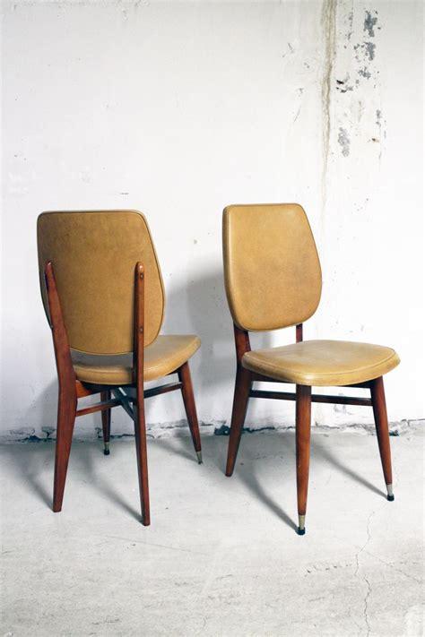 pied de chaise scandinave paire de chaises vintage scandinave pieds compas 233 es 60