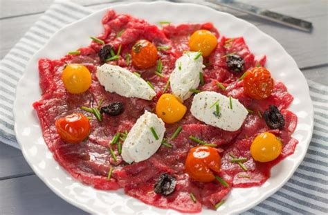 recette carpaccio de boeuf tomates confites olives
