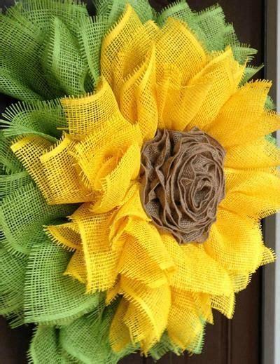sunflower wreath  ribbon rose center tutorial