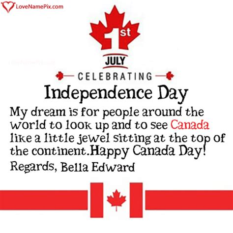 Bella Edward Name Picture - Canada Day Wishes Messages in ...