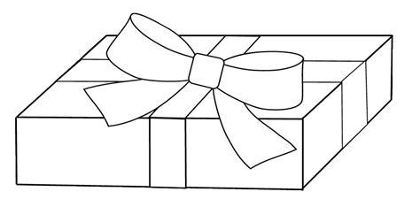 White Gift Clipart To Colour, 17 Cm