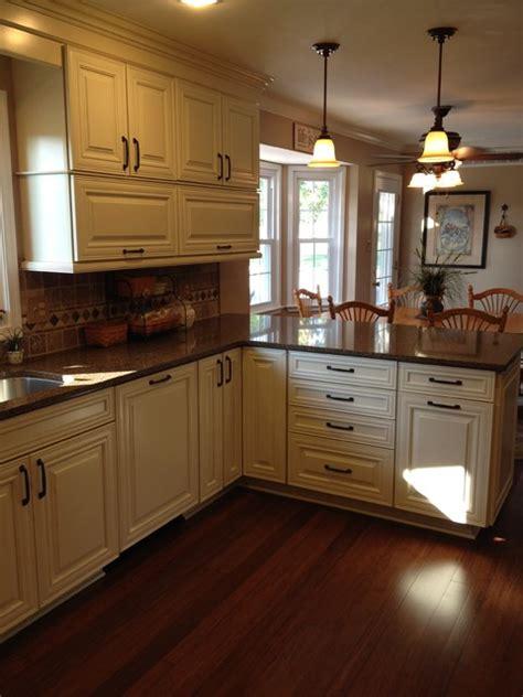shenandoah mckinley maple cream glaze traditional kitchen philadelphia  lowes