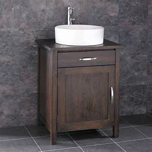 solid oak bathroom vanity unit wooden vanity units for With solid wood vanities for bathrooms