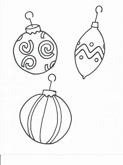 Coloring Christmas Ornament Pages Printable Decorations Tree