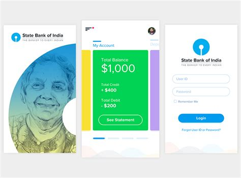 banking app concept ui kit  screens adobe xd