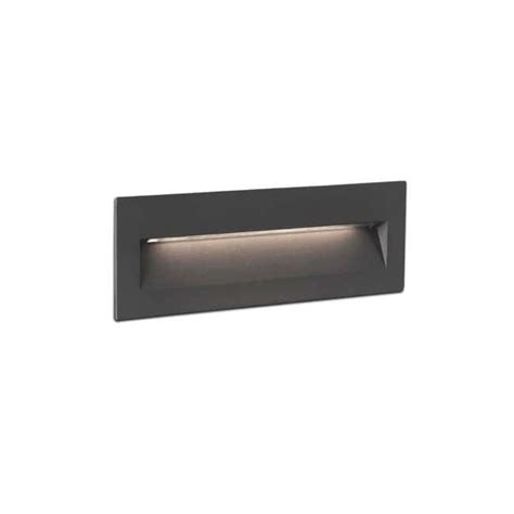 recessed wall light outdoor led nat 6w faro barcelona